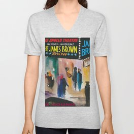 The Apollo Theater of Harlem Present James Brown Live Portrait Unisex V-Neck