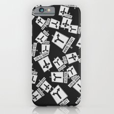 pattern with traffic signs road selection iPhone 6s Slim Case