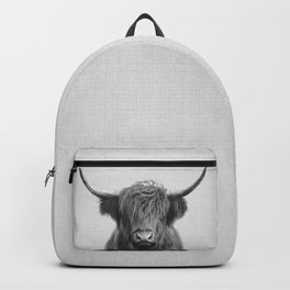 Highland Cow - Black & White Backpack
