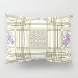 Olive green cage and roses. Pillow Sham