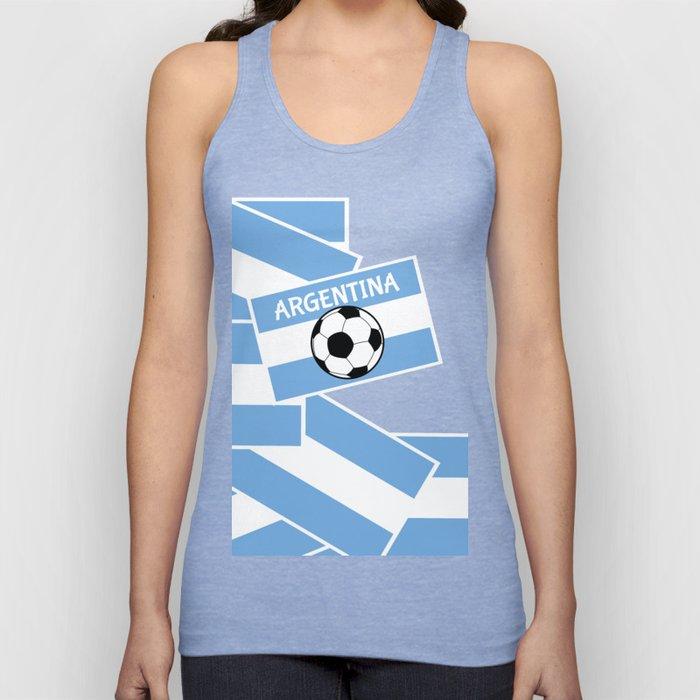 Argentina Football Unisex Tank Top