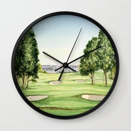Southern Hills Golf Course 18th Hole Wall Clock