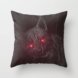 Bad Kitty! Throw Pillow
