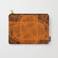 Eternal Rounded Cross in Orange Brown Carry-All Pouch