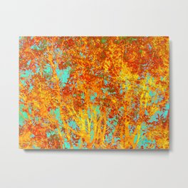 Trees Ablaze Metal Print