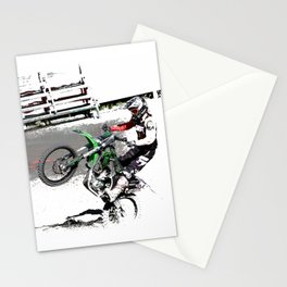 Making a Stand - Freestyle Motocross Rider Stationery Cards