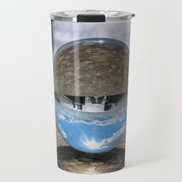 lines and sphere Travel Mug
