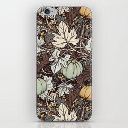 Winter Pumpkins iPhone Skin