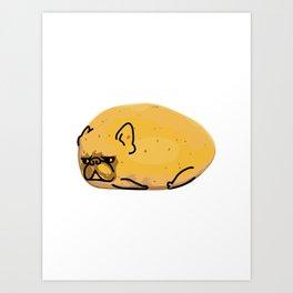 Frenchie Potato Art Print