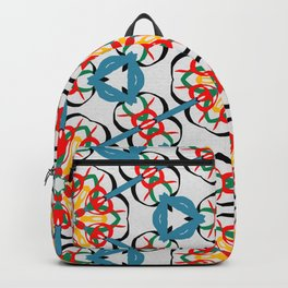 Kaleidoscope color pattern. Geometric Gold & gray watercolor background. Repeat urban texture with watercolour elements.  Backpack