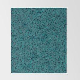 Teal Lumber Mosaic Pattern Throw Blanket