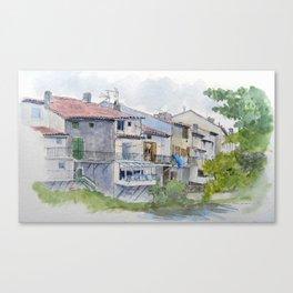 Rainy Quillan Canvas Print