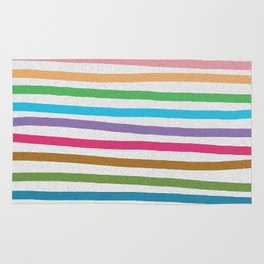 Colorful stripes pattern Rug