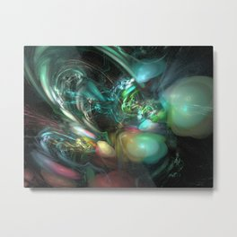 Explosion of Colour Metal Print