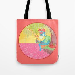 fisherman by the river Tote Bag