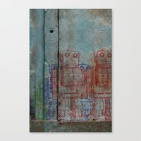 army Canvas Prints featuring Robot army by Ale Ibanez