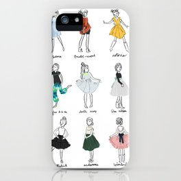 Lili's Sews: Collection 1 iPhone Case