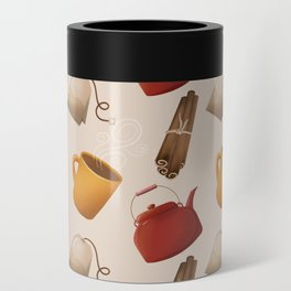 Brown Fall Style Tea and Coffee Can Cooler