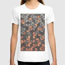 Concrete and Copper Cubes T-shirt