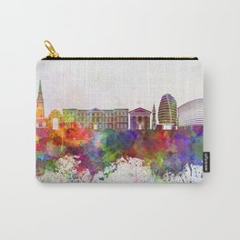 Leicester skyline in watercolor background Carry-All Pouch
