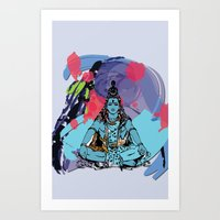shiva Art Prints featuring Shiva by SACreativeTO
