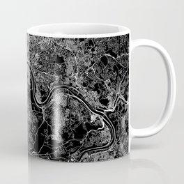 Pittsburgh Black Map Coffee Mug