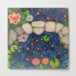 Oh My Stars It's Constellation Aquarius and Piscis Austrinus Metal Print