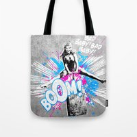 girl power Tote Bags featuring Girl Power by victor calahan