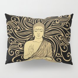 Mandala Golden Buddha Pillow Sham