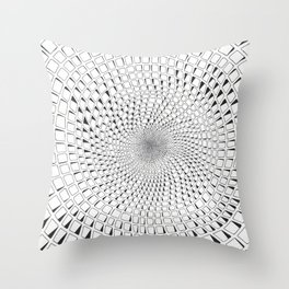 Celled Tunnel Throw Pillow