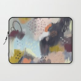 Abstract Boreal Landscape Painting Laptop Sleeve