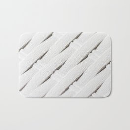 White texture of wicker Bath Mat