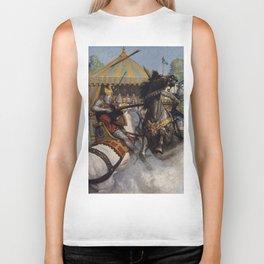 Knights jousting Biker Tank