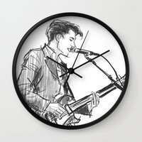 alex turner Wall Clocks featuring alex turner [4] by roanne Q