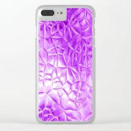 Beautiful metallic  futuristic pattern Clear iPhone Case