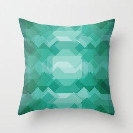 Emerald gem stone Throw Pillow