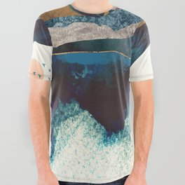 Blue Mountain Reflection All Over Graphic Tee