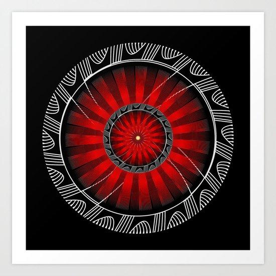 Circle Study No. 448 Art Print