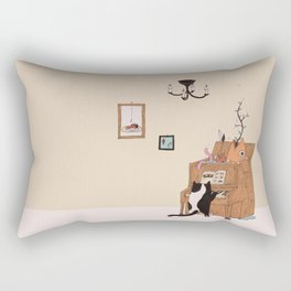 the Pianist Rectangular Pillow