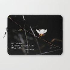 Sakura flowers on black 03 Laptop Sleeve
