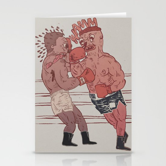 fight night Stationery Cards