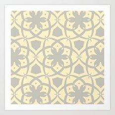 Pattern Print Edition 1 No. 1 (yellow and gray) Art Print