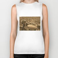 motorcycle Biker Tanks featuring Jawa motorcycle by AhaC