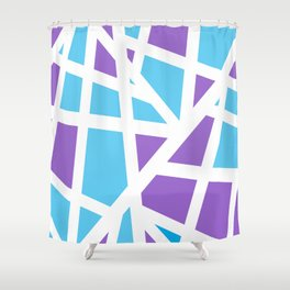 Abstract Interstate  Roadways Aqua Blue & Violet Color Shower Curtain