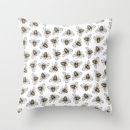 Bee Pattern - Katrina Niswander Throw Pillow