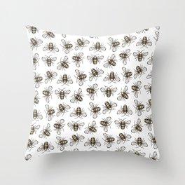 Bee Pattern - Katrina Niswander Throw Pillow