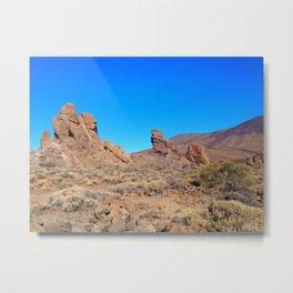 volcanic mountain landscape - tenerife Metal Print