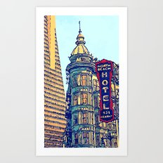 North Beach, San Francisco #068 by Mark Gould Art Print