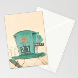 Lifeguard station. No. 21 Stationery Cards