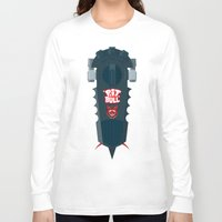 pitbull Long Sleeve T-shirts featuring Pitbull Hoverboard by Staermose